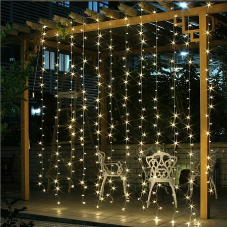 Led Curtain Lights 240 Led Window Curtain String Light Wedding Party Garden Bedroom Outdoor Indoor Decorations Warm White 6 6 Ft X 9 8 Ft Eu Walmart Canada