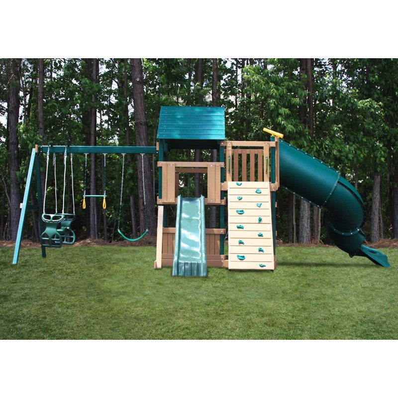 Congo Explorer Treehouse Climber Playset - Green and Sand
