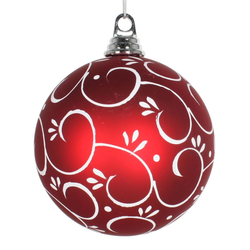 "Vickerman 466483 - 5.5"" Red/White Matte Christmas Christmas Tree Ornament (2 pack) (M175732)"