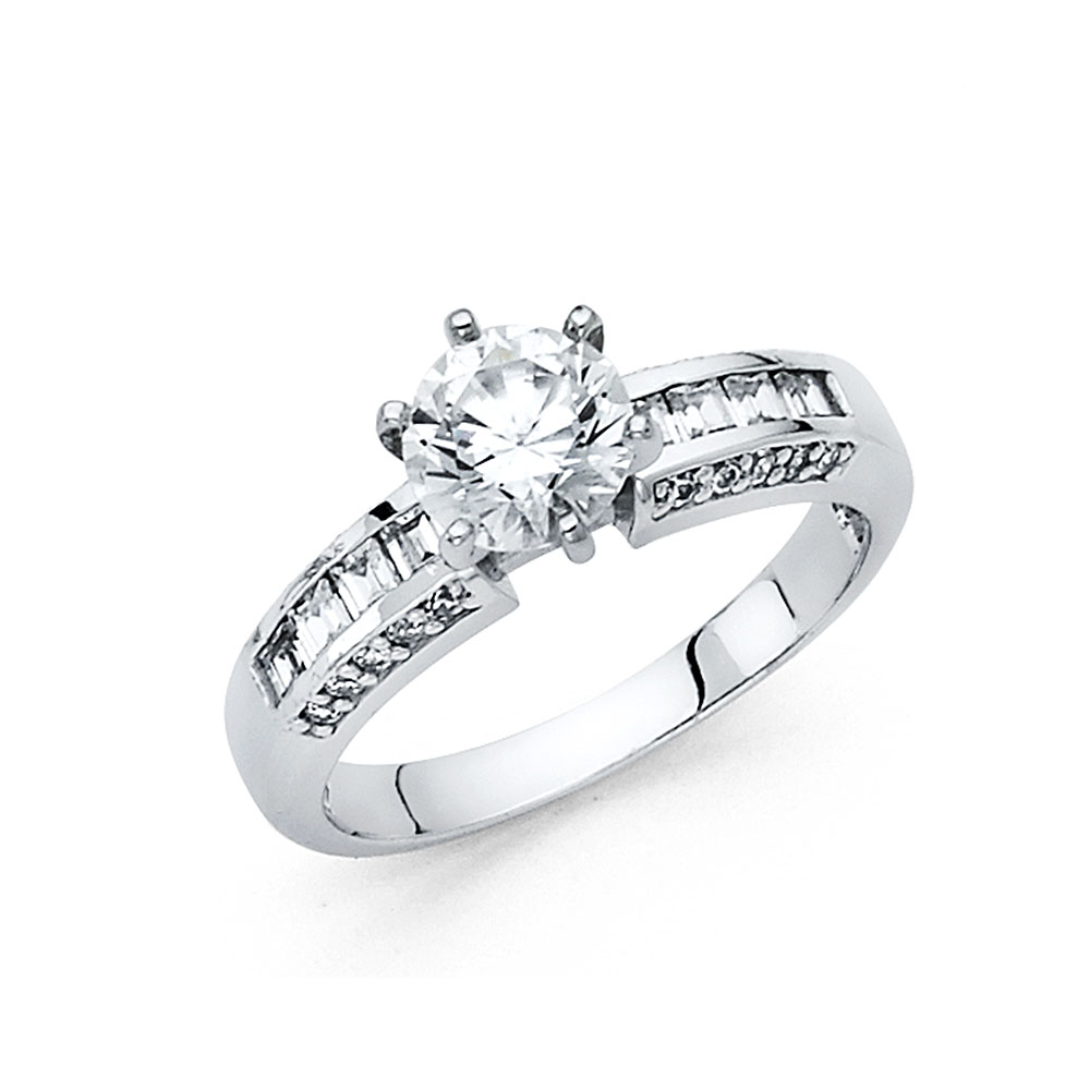 Paradise 14K Solid White Gold Polished 1.25 cttw Cubic Zi...