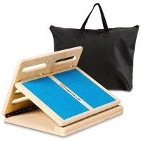 Goplus 4-level Adjustable Slant Board Wooden Calf Stretcher Incline Stretching Ankle