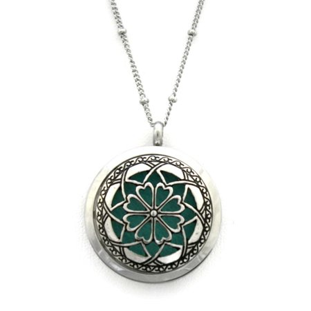 Unique 316L Stainless Steel Essential Oil Diffuser Necklace- 30mm- 20