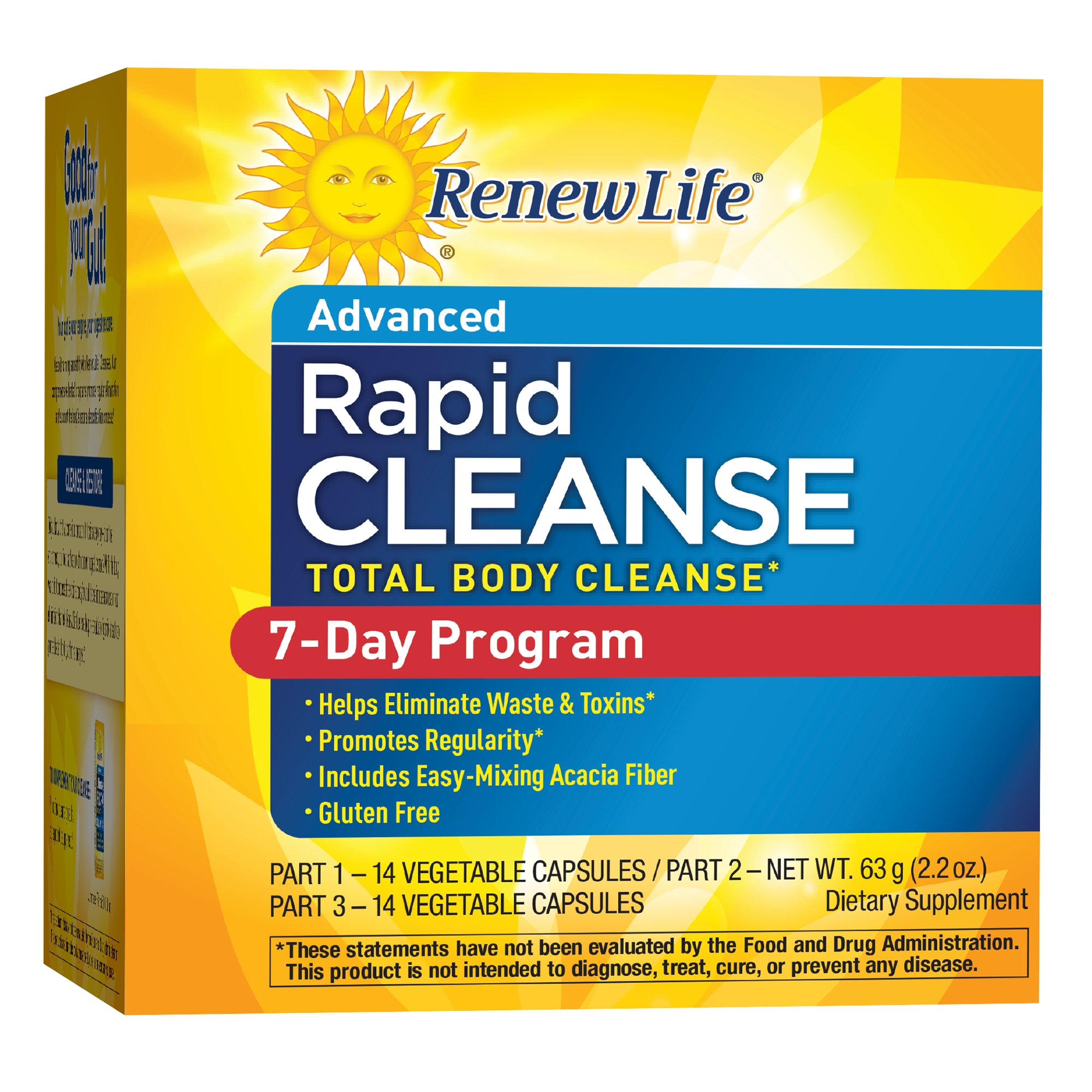 Renew Life 7 Day Rapid Total Body Cleanse Kit, 28 Capsules & 2.2 Oz