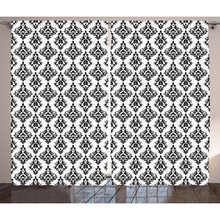 1c0d607da8481 Damask Curtains 2 Panels Set