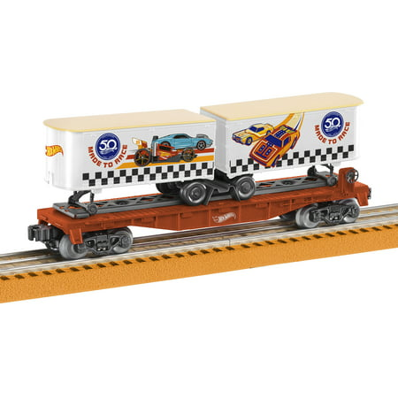 Hot Model Teen (Lionel Hot Wheels 50th Anniversary O Gauge Model Train Flat Car with Piggyback)