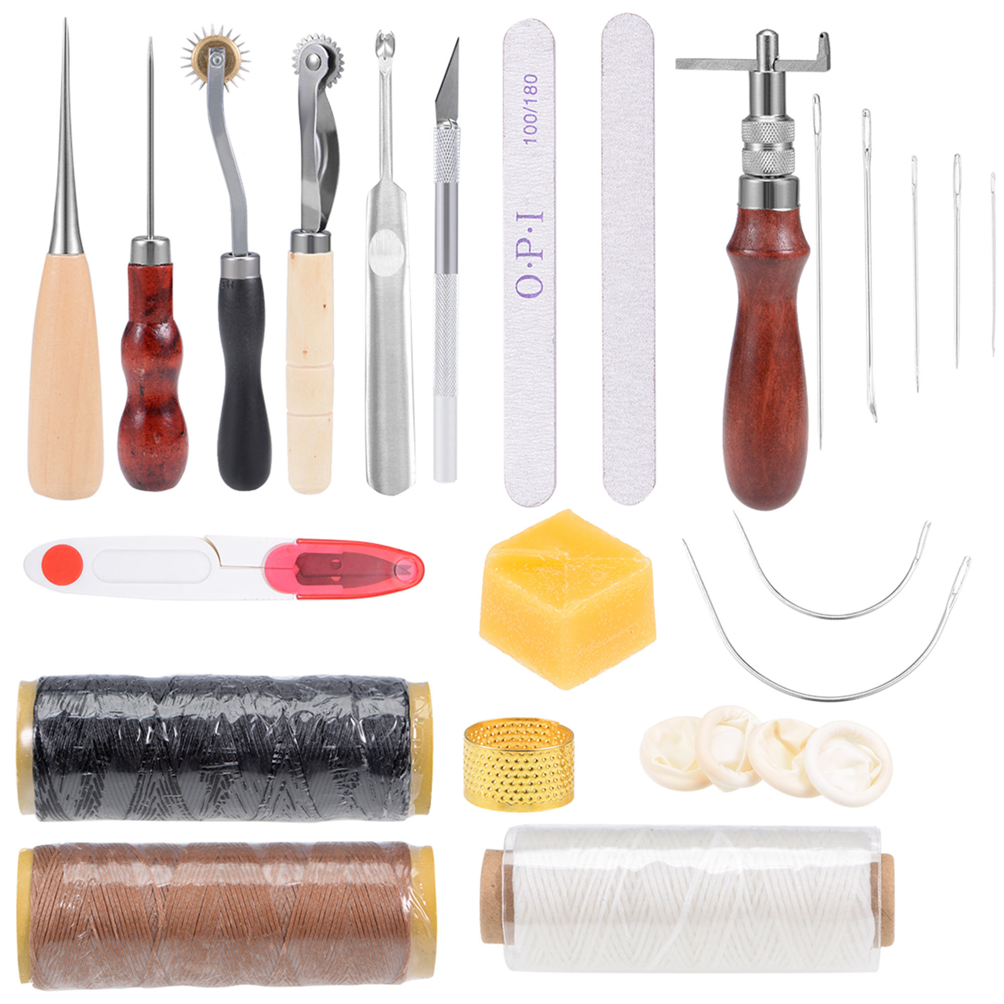 Craft Tool 18PCS Leather Sewing Tools Kits Leather DIY Hand Stitching Tools