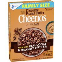 General Mills, Cheerios Breakfast Cereal, Chocolate Peanut Butter, Family Size 20.3 oz