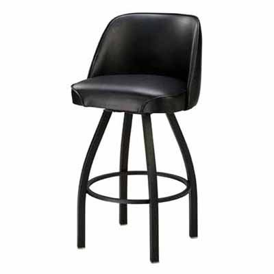 Regal Bucket Seat 30 in. Black Cone Metal Bar Stool