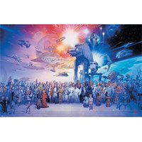 Star Wars Universe Complete Cast Characters 36x24 Movie Art Print Poster