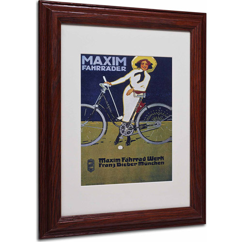 "Trademark Fine Art ""Bike 43"" Matted Framed Art by Vintage Apple Collection, Wood Frame"