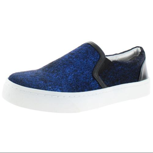 Luichiny Vay Kay Women Round Toe Canvas Blue Loafer by Luichiny