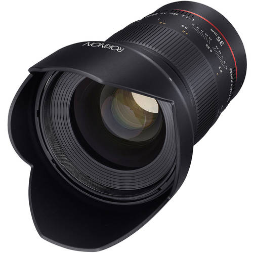 Rokinon 35mm F1.4 UMC Wide-Angle Lens for Canon AE with Automatic Chip