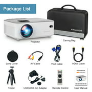 """FANGOR WiFi Bluetooth Projector, Native 720P Projector with 200"""" Projection Size, Ideal for Home Theater - Best Reviews Guide"""