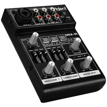 Talent MIX-R Mini Portable 3-Channel Mixer with USB Audio