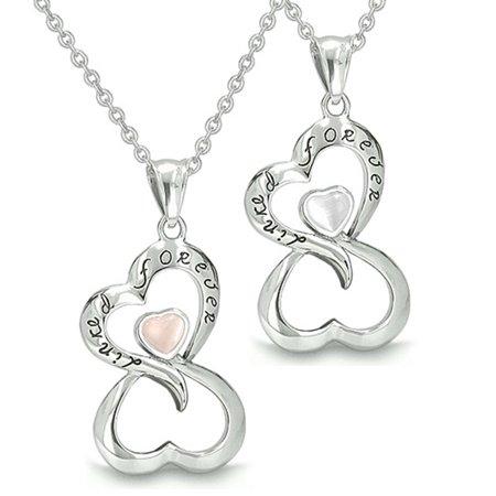 0ec978f220 BestAmulets - Infinity Hearts Linked Forever Love Couple Yin Yang ...