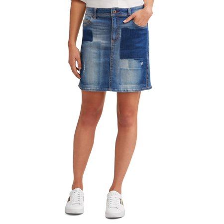 EV1 from Ellen DeGeneres Alex Patchwork Denim Skirt Women's