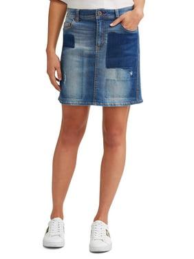 7f03d68e17 Product Image Alex Patchwork Denim Skirt Women's