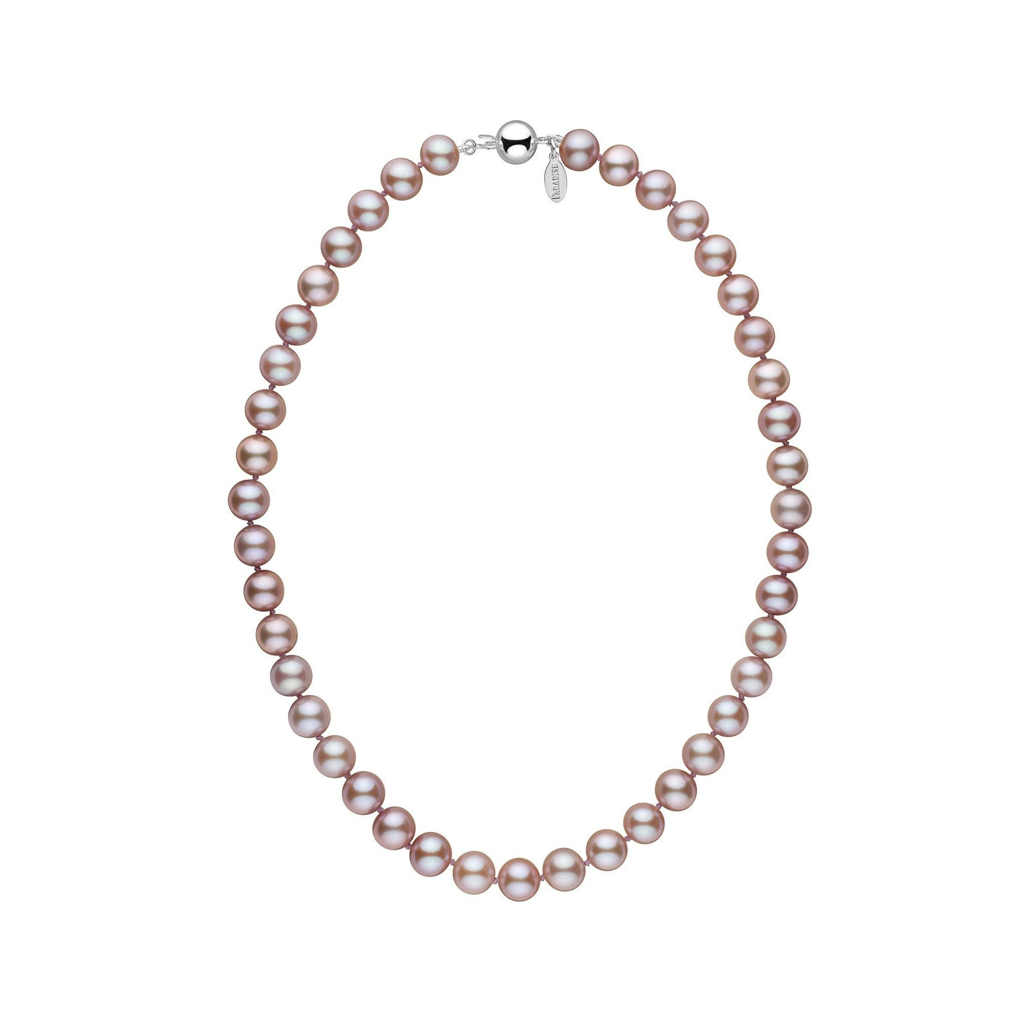 9.0-9.5 mm 16 Inch Lavender Freshadama Freshwater Pearl Necklace by Pearl Paradise