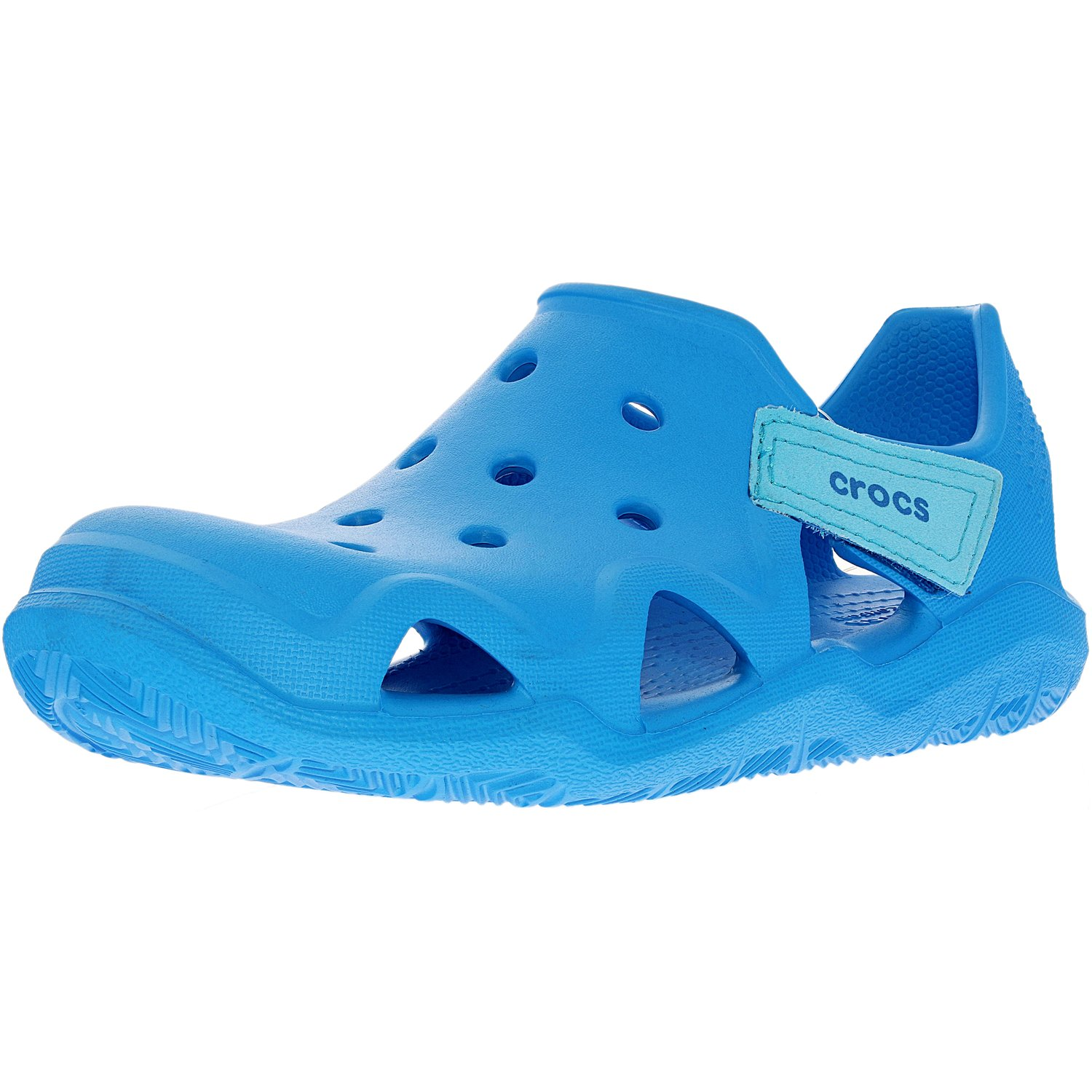 Crocs Boy's Swiftwater Wave Ocean Ankle-High Flat Shoe 10M by Crocs