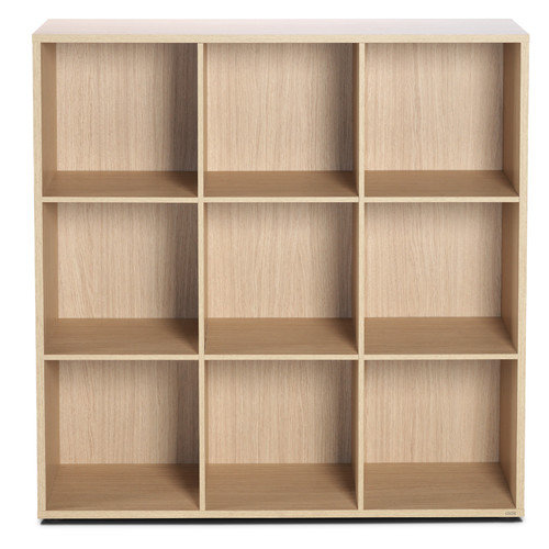 Bestar Clic Furniture 3 Row and 3 Column Thick Framed Open Cabinet 42.74'' Cube Unit