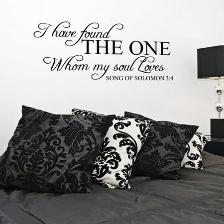 I Have Found The One Whom My Soul Loves Vinyl Wall Decal Quotes JR398 (I Have Found The One Whom)