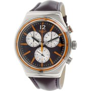 Swatch Men's Irony YVS413 Purple Leather Swiss Quartz Fashion Watch