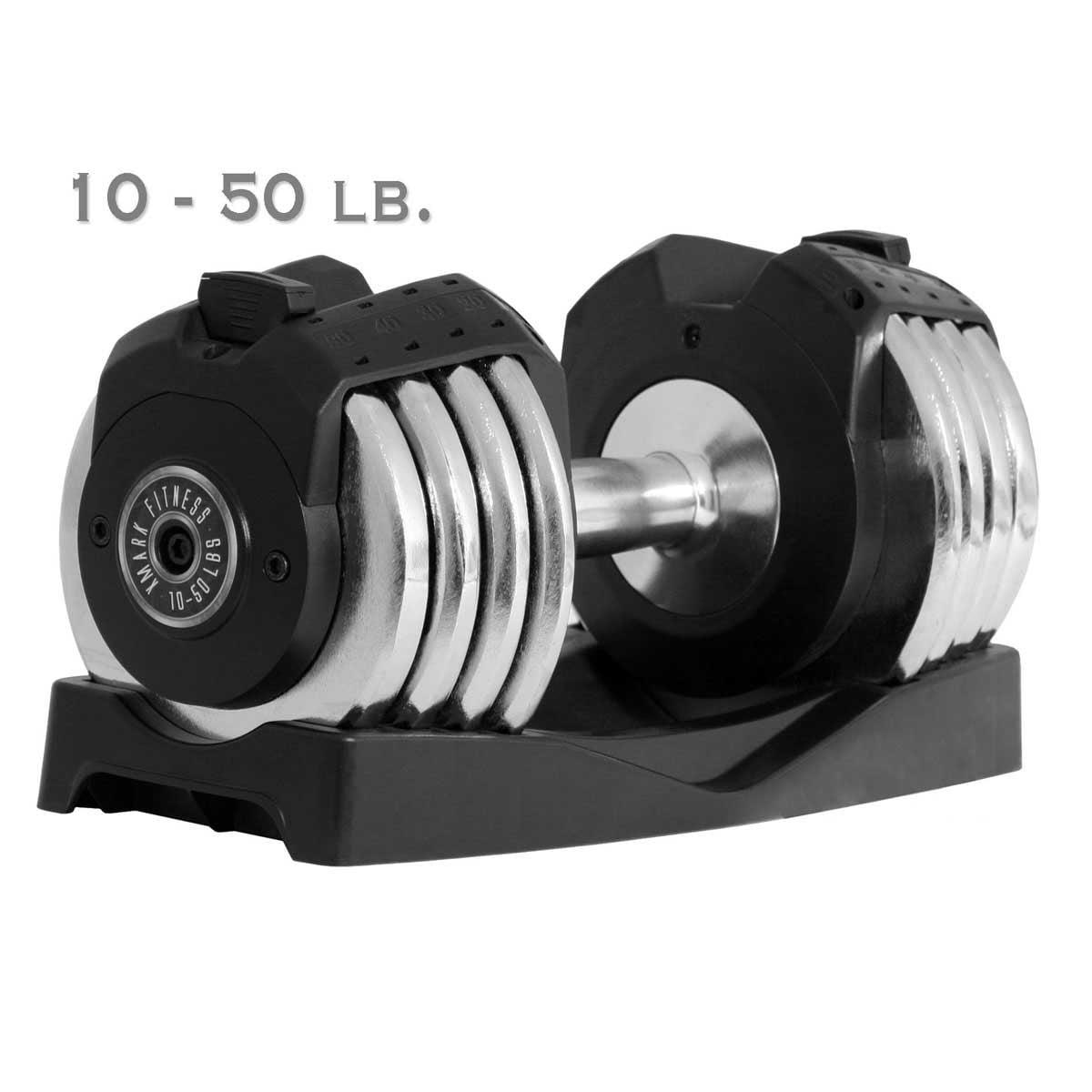 XMark 50 lb. Adjustable Dumbbell-Single