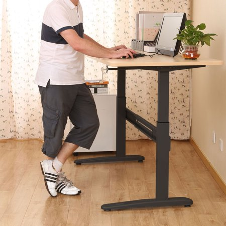 PintyHeight Adjustable Manual Crank Standing Desk DIY Sit-Stand Workstation