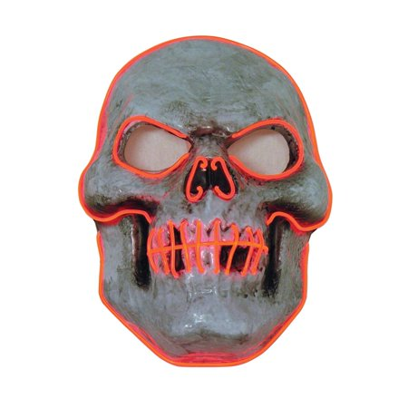 Led Skull Mask Halloween Costume Accessory
