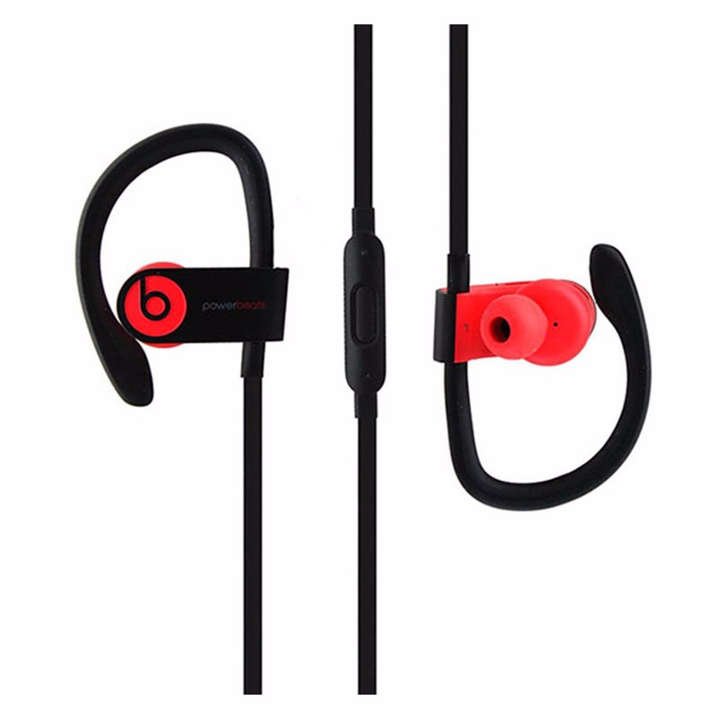 Beats Powerbeats3 Series Wireless Ear-Hook Headphones - Siren Red (MNLY2LL/A) (Refurbished)