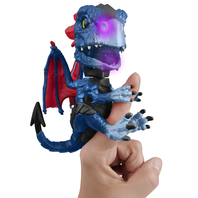 Fingerlings Untamed Dragon – Series 1 – Shockwave (Purple and Dark Blue) – By WowWee