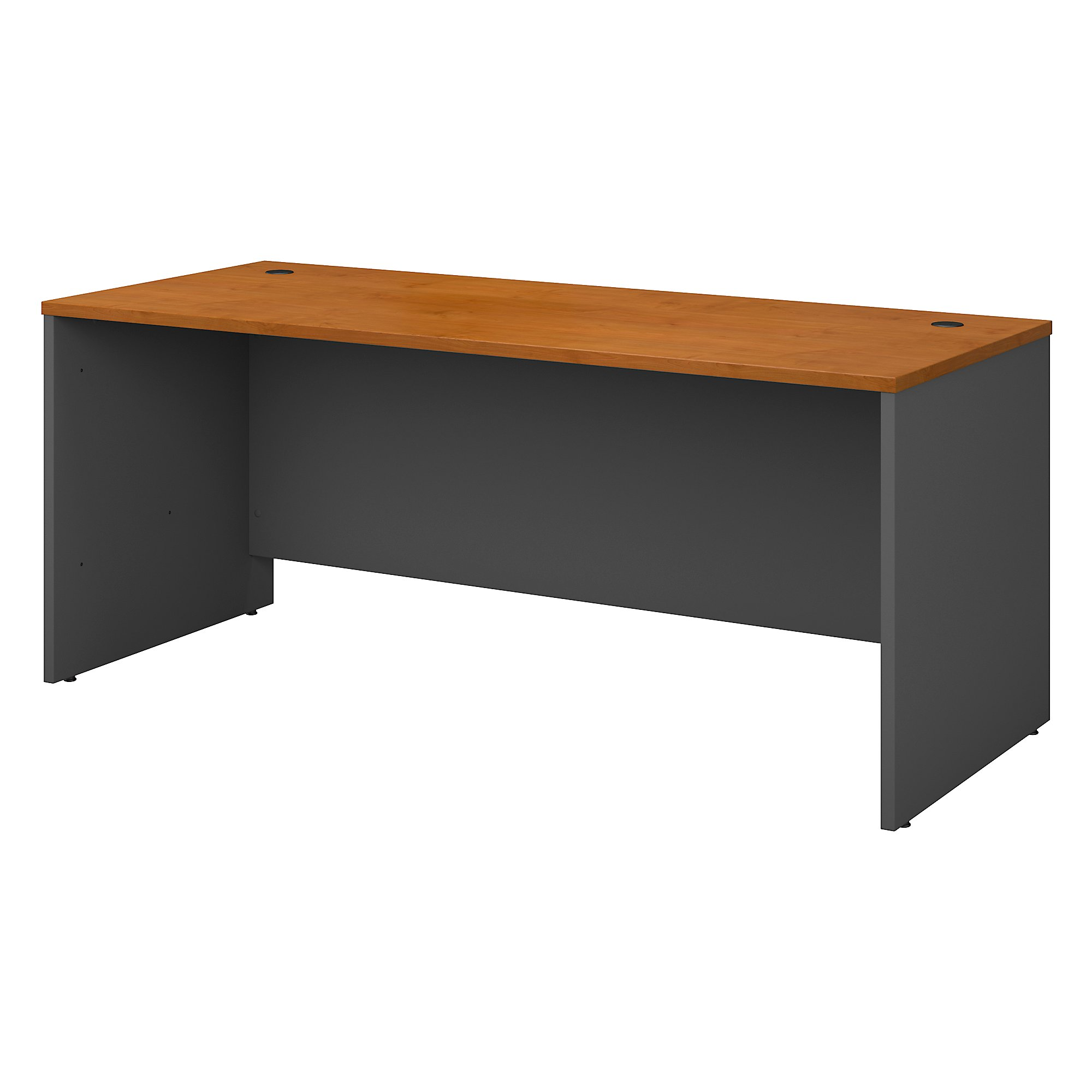 Office furniture series c classic shell desk design 200 lbs weight capacity engineered wood natural cherry desk shell walmart com