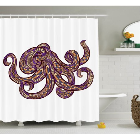 Octopus Decor Octopus Illustration With Ethnic Pattern And Colors