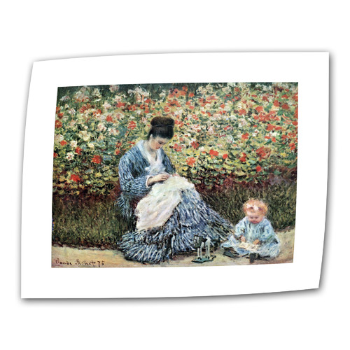 ArtWall ''Mother and Child'' by Claude Monet Print of Painting on Canvas