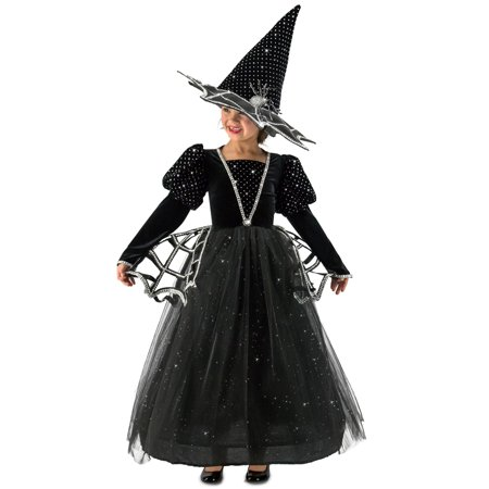 Girls Diamond Witch Glitter Halloween Costume (Girls White Witch Costume)