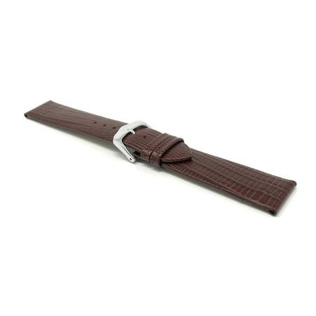 20mm Bracelet de montre pour femmes en cuir v?ritable, fin, finition semi-lustr?e - image 5 de 7