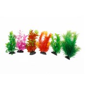 Aquariums Fish Tank Decorative Aquatic Plastic Plants 6 in 1