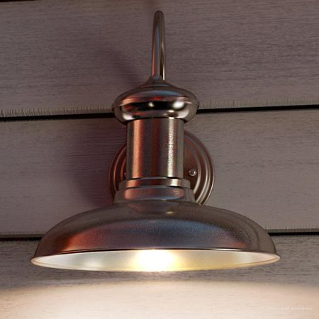 Urban Ambiance Luxury Urban Industrial Outdoor Wall Light, Size: 12-3/8