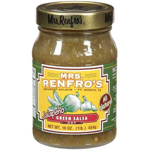 Mrs. Renfro's Hot Jalapeno Green Salsa, 16 oz