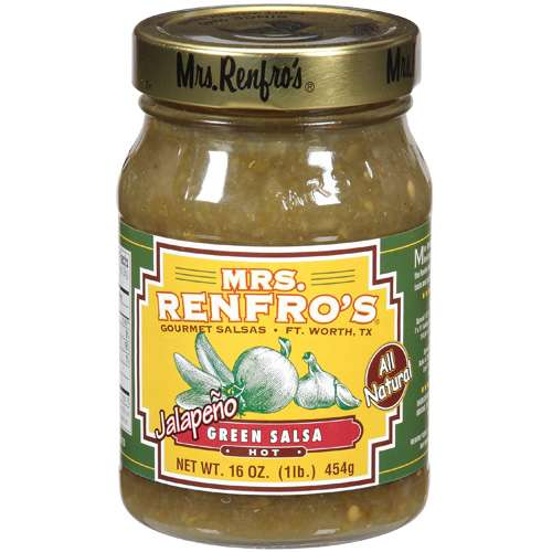 Mrs. Renfro's Hot Jalapeno Green Salsa, 16 oz