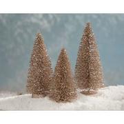 "Set of 3 Brown Elegant Artificial Christmas Decorative Trees 8"""