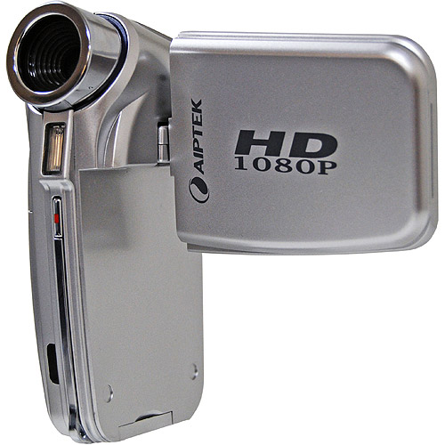 Aiptek A-HD+ Silver Flash Memory Camcorder High Definition 1080p