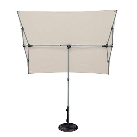 SimplyShade Capri Outdoor Patio Shade Rectangle Balcony Umbrella, Antique Beige ()