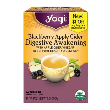 Yogi Tea, Blackberry Apple Cider Digestive Awakening, Tea Bags, 16 Ct