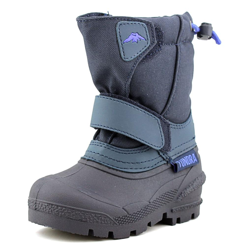 tundra toddler toe synthetic blue snow boot