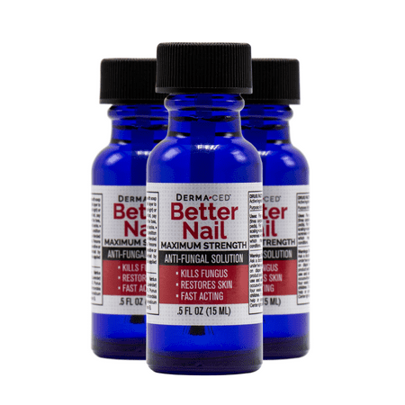 Better Nail - Maximum Strength 25% Solution for Anti Fungal Nail Support | Nail Solution for Toenail & Fingernail Fungus | .5oz or 15ml | 3-pack