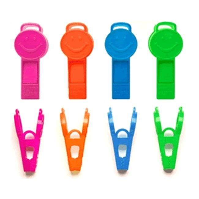 Balloons and Weights 2104 9 gram Happy Clip Balloon Weight Neon Assortment 100 pc