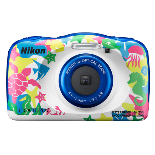 Nikon COOLPIX W100 13.17MP 3x Wi-Fi Waterproof Digital Camera Marine Brand New!