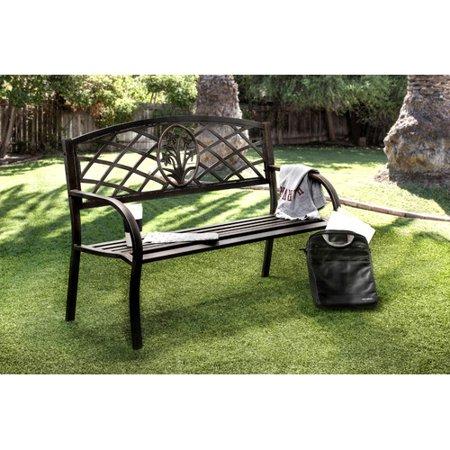 Pleasing Hokku Designs Sunny Perennial Outdoor Metal Garden Bench Bralicious Painted Fabric Chair Ideas Braliciousco