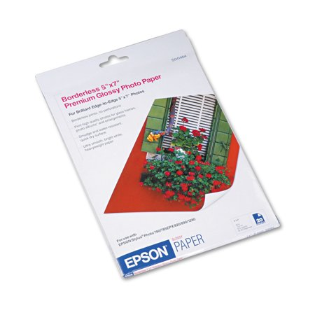 """Epson S041464 20-Pack 5"""" x 7"""" Glossy Photo Paper"""
